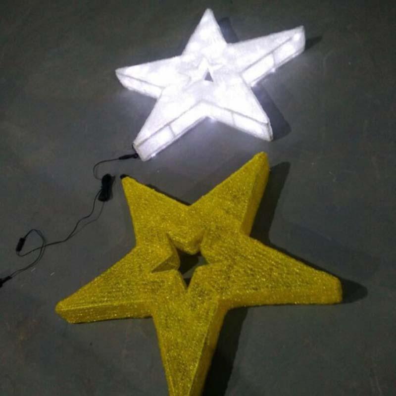 LED Star Christmas Decorations Warm witte LED-lampjes Sterren