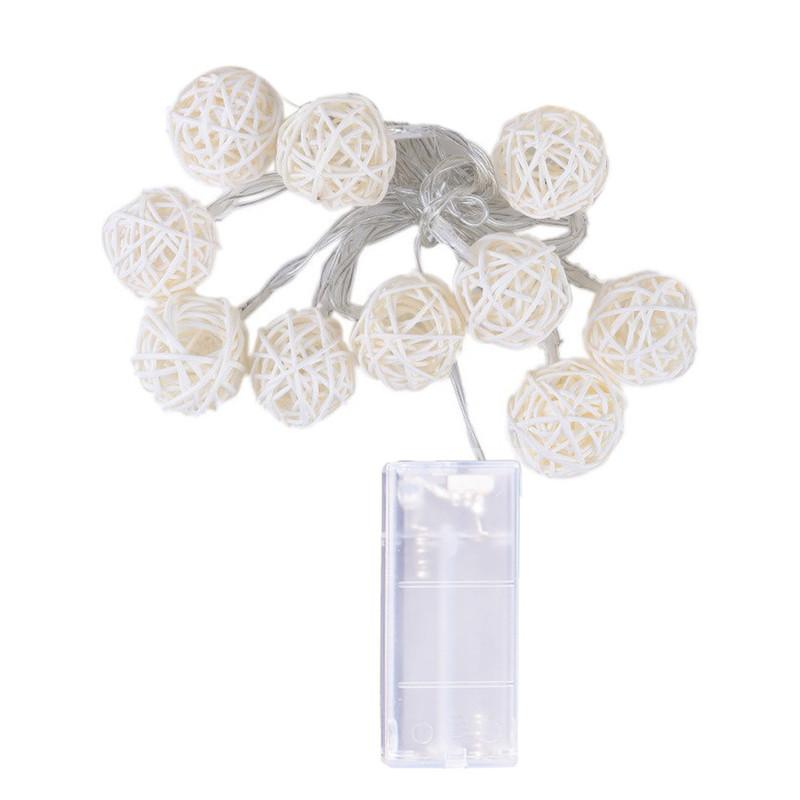 10 LED lichtslingers 1.2M Sprookjes garland aangedreven buiten Warm wit Voor Xmas festival bruiloft decoratie