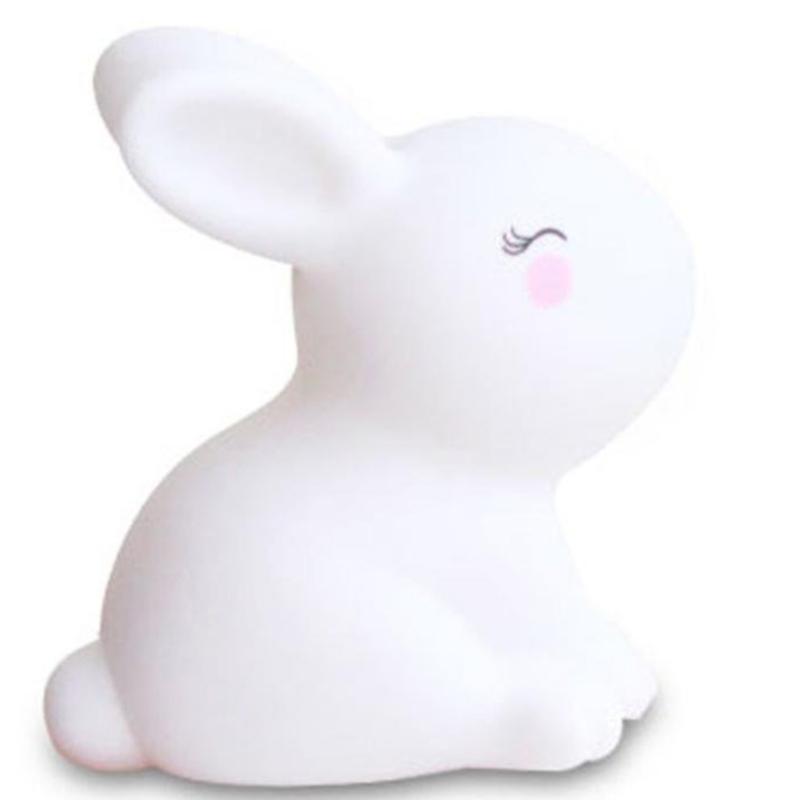 Houd lijm kleine witte konijn nachtlampje speelgoed decoratie