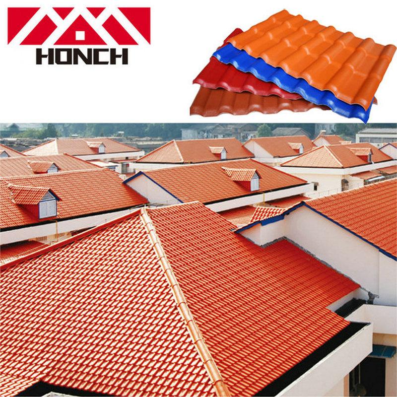 Royal1050 Nieuwe ASA kunsthars dakpannen dakplaat fabriek verkopen