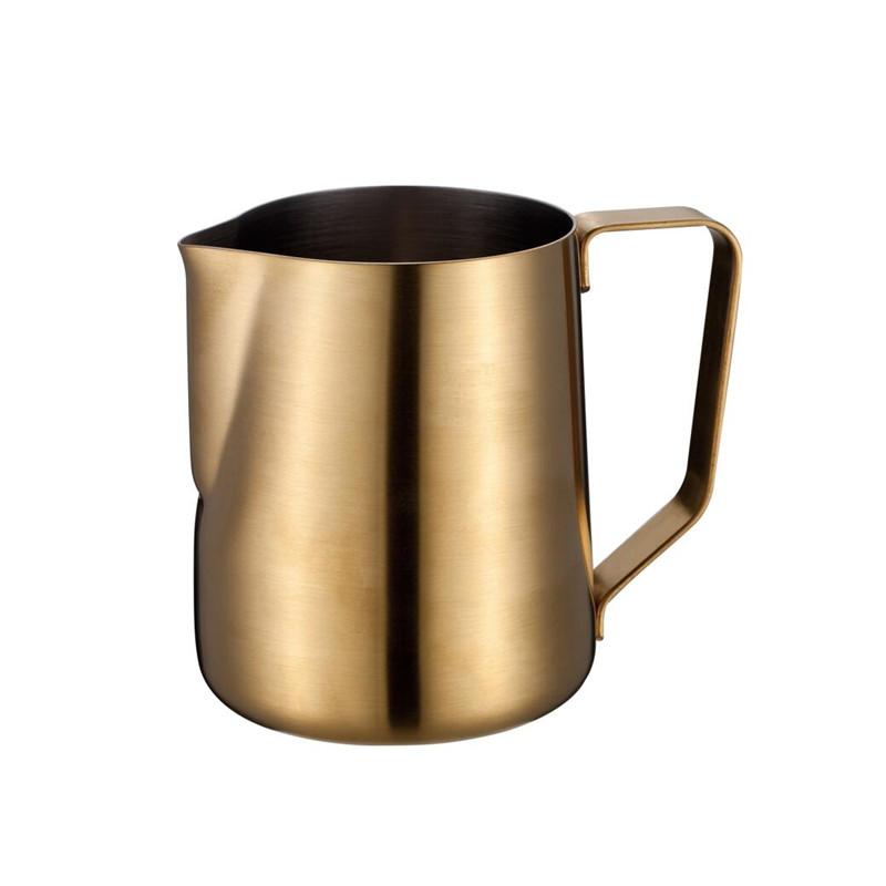 Klassieke roestvrijstalen espressomousse-melkkan met 14 capaciteit voor latte art