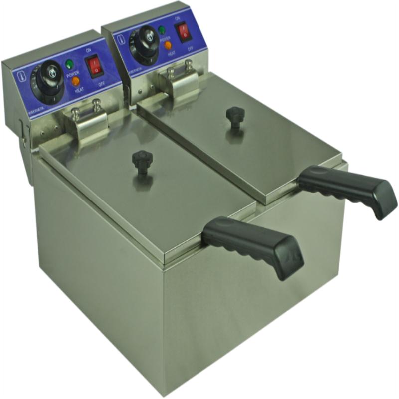 elektrische friteuse twee tank