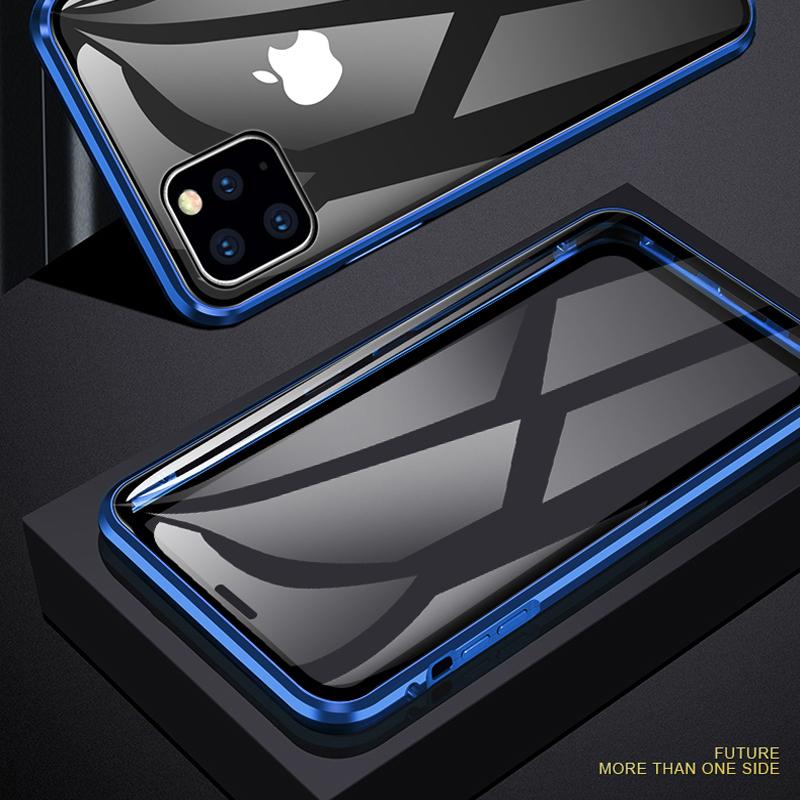 Voor iPhone 11 hoesje Magnetische adsorptietelefoonhoes