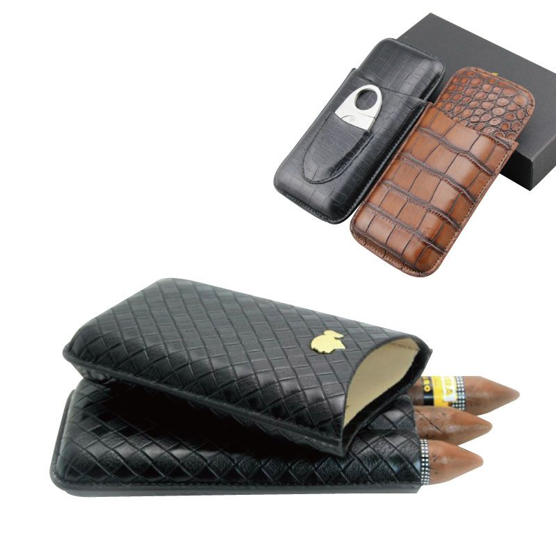 Reizen 3 telt Portable Leather Sigar case