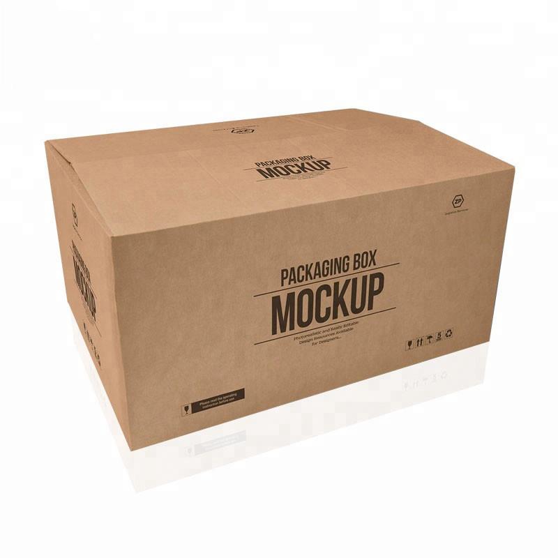 Het hete verkopen op maat grote 5 lagen logo merk gedrukt kraftpapier verzending levering grote kartonnen doos