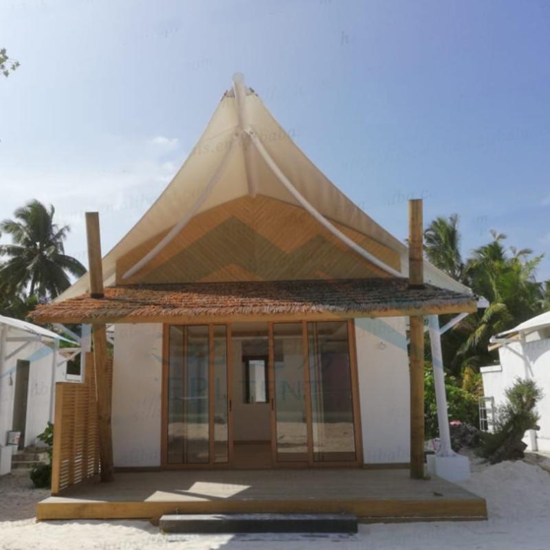Maldiven badplaats hotel accommodatie tenten