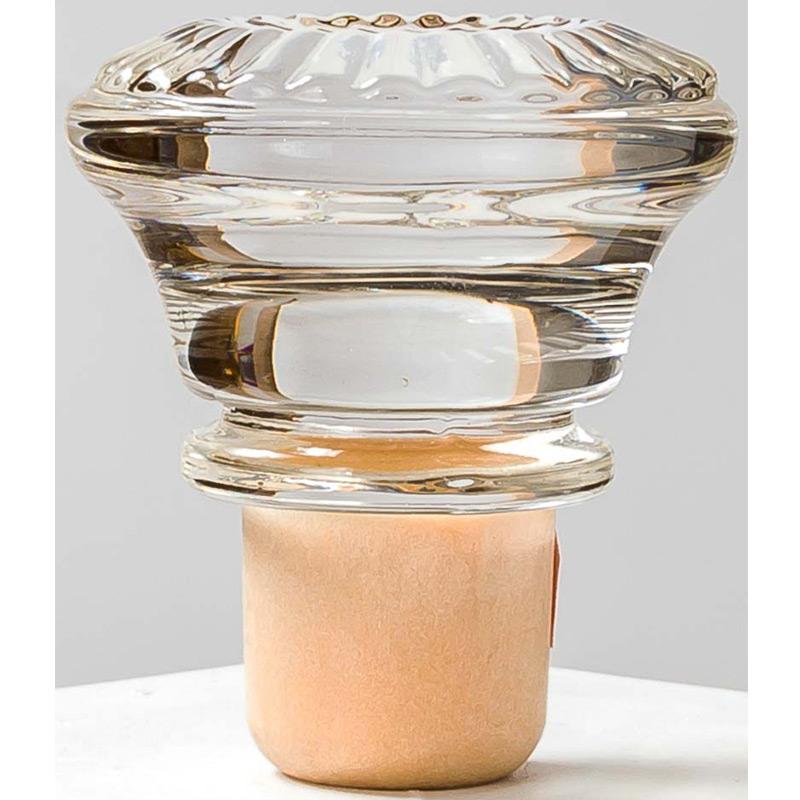 wijnfles kurk dop glazen sluiting
