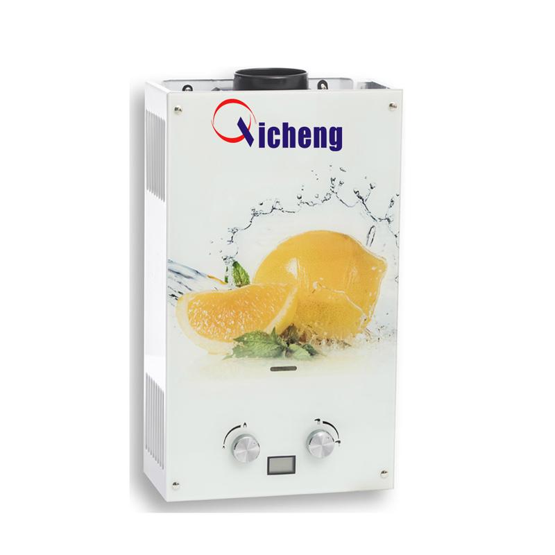 fabrikant van een merk OEM-fabrikant 10L-gaswaterverwarmingstoestel met een mooi glasontwerp